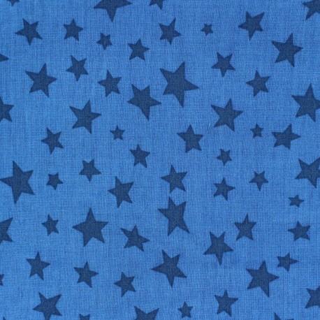 Cotton fabric Spring Voie lactée navy blue on blue x10cm