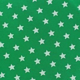 Tissu sweat Magic Vert Impérial x 10cm