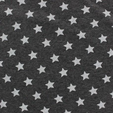 Tissu sweat voie lactée gris anthracite x 10cm