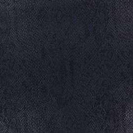 Tissu Suédine Girondine fond Marine x 10cm