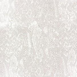Tissu Suédine Girondine fond Beige clair x 10cm