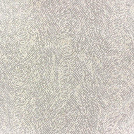 Tissu Suédine Girondine fond Ecru x 10cm