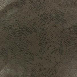 Tissu Suédine Python fond azur x 10cm