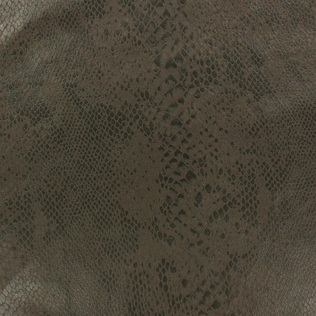 Suede fabric Python - azure x 10cm