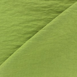 Crinkled Viscose Fabric - Lime Tree x 10cm