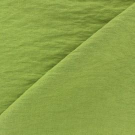 Tissu viscose froissé - tilleul x10cm