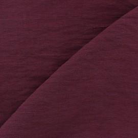 ♥ Coupon tissu 90 cm X 140 cm ♥ viscose froissé - pourpre