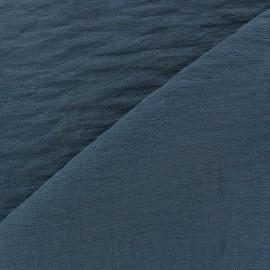 Tissu viscose froissé - bleu x10cm
