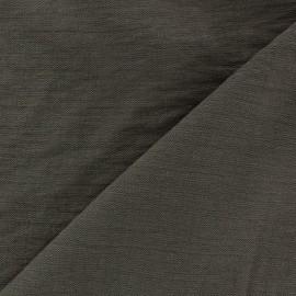 Tissu viscose froissé - marron x10cm