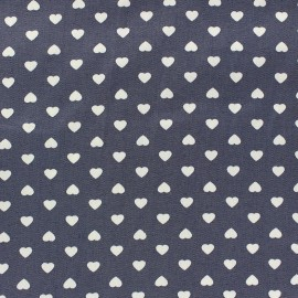 Tissu coton satiné Amor denim x 10cm
