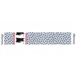 Tissu Cats & Dots fond gris x 10cm