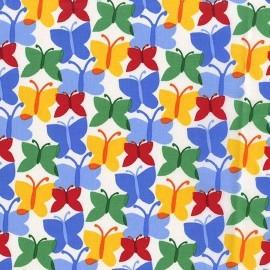 Tissu Fluttery bleu x 10cm