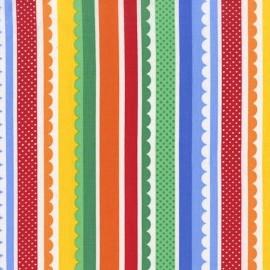 Tissu Carnival Stripe Multi A x 10cm