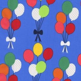 ♥ Coupon 210 cm X 110 cm ♥ Tissu Funfair Balloons fond bleu