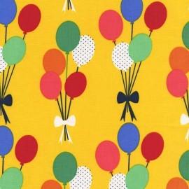 ♥ Coupon 270 cm X 110 cm ♥  Tissu Funfair Balloons fond jaune
