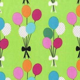Tissu Funfair Balloons fond vert anis x 15cm