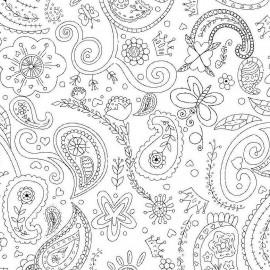 Fabric Color Me Princess Paisley x 30cm
