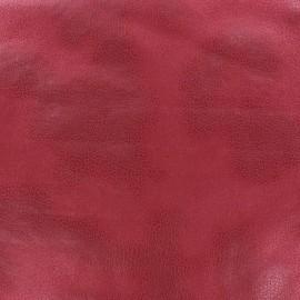 Tissu Suédine Austin rouge grenat x 10cm