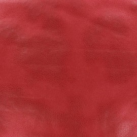 Tissu Suédine Austin rouge x 10cm
