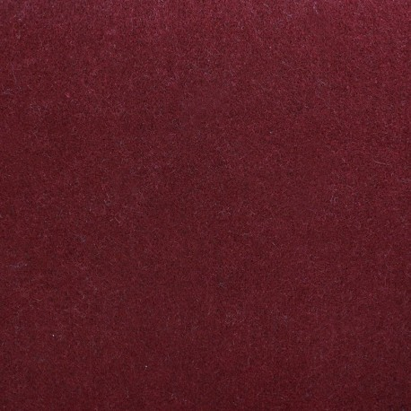 Thick baize fabric pearl burgundy coloured x 10cm
