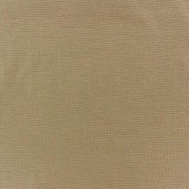 Jersey tubulaire bord-côte 1/1 sable x 10cm
