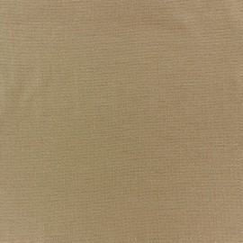 Knitted Jersey 1/1 tubular edging fabric - sand x 10cm