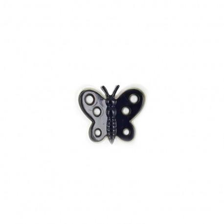 Bouton polyester motyl noir