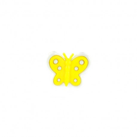 Bouton polyester motyl jaune