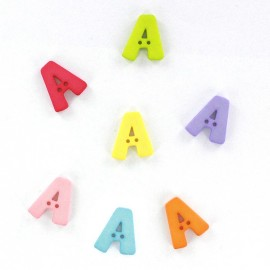 Button, letter A Color