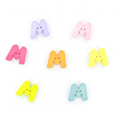 Bouton lettre M Color