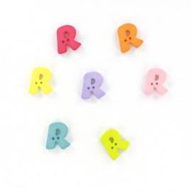 Button, letter R Color