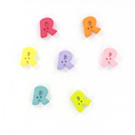 Bouton lettre R Color
