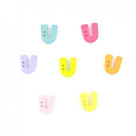 Button, letter U Color
