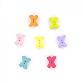 Button, letter X Color