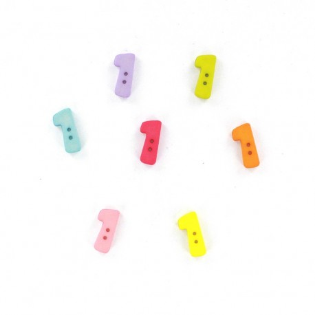 Bouton chiffre 1 Color
