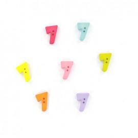 Bouton chiffre 7 Color