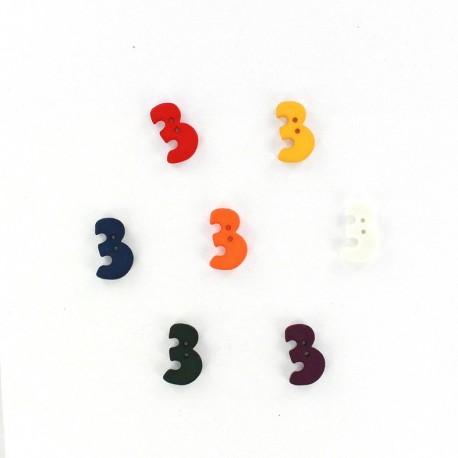Bouton chiffre 3