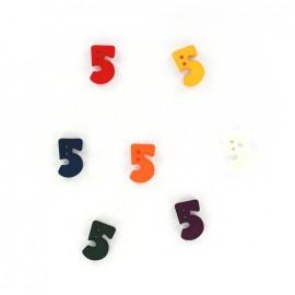 Bouton chiffre 5