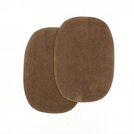 Buckskin aspect fusible elbow and knee patch - beaver-colored