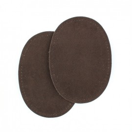 Imitation buckskin to fuse and/or to sew elbow and knee patch - dark brown