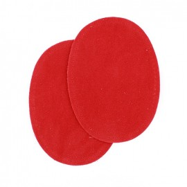 Buckskin aspect fusible and/or to sew Elbow and knee patch - red