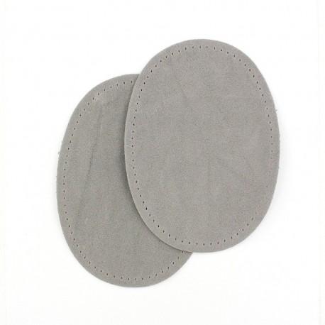 Coudières thermocollantes aspect daim gris