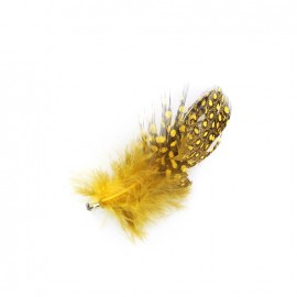 Feather charm - yellow