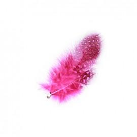 Feather charm - fuchsia
