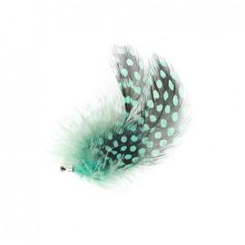 Breloque plume turquoise