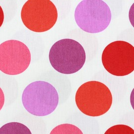 Poplin fabric Grands Pastilles multi - pink x 10cm
