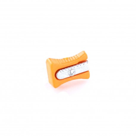 Polyester Button, pencil sharpener - orange