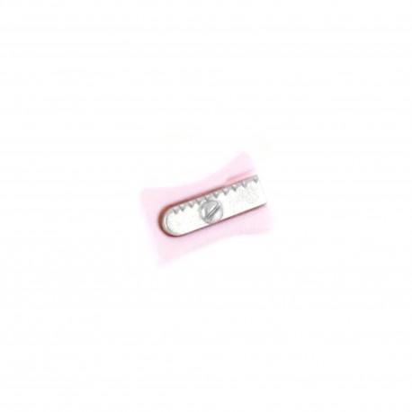 Polyester Button, pencil sharpener - pink