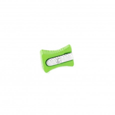 Polyester Button, pencil sharpener - green