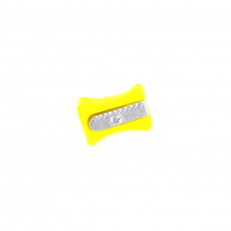 Polyester Button, pencil sharpener - yellow